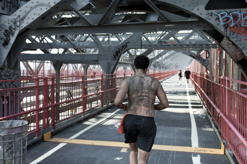 <p>Runner on Williamsburg Bridge, NYC</p>
